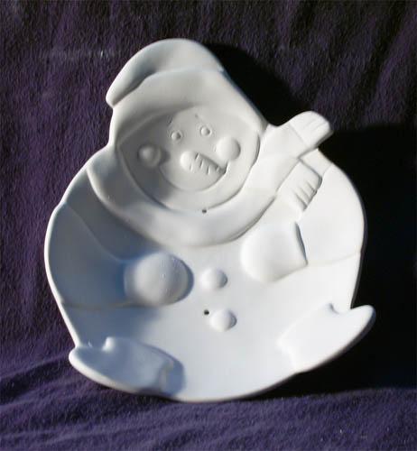 5000792 Snowman Dish