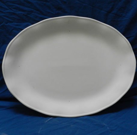 5001071 Oblong Ruffled Edge Platter
