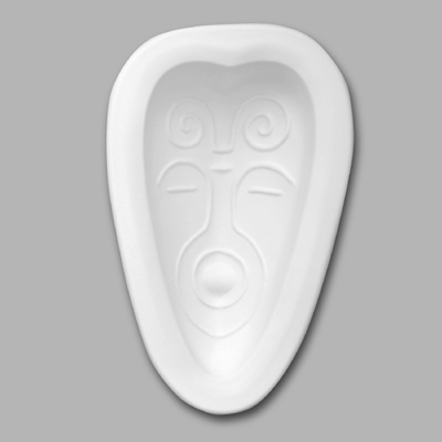 GM114 African Mask Heart Shaped Small