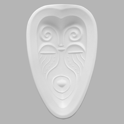 GM912 African Mask Heart Shape Large